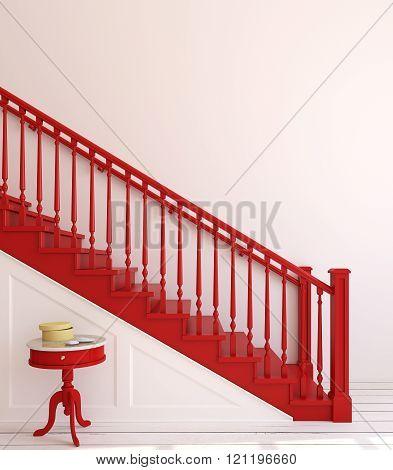 Stairway. 3D Rendering.