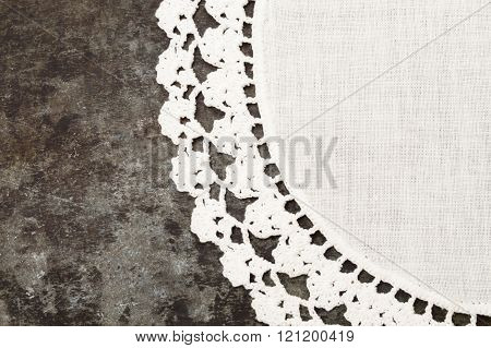 Granny Crochet Old Sheet Metal Background