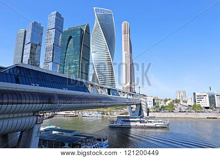 Business Center Moscow-city And Bridge Bagration