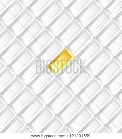 Business background gray with gold ingots