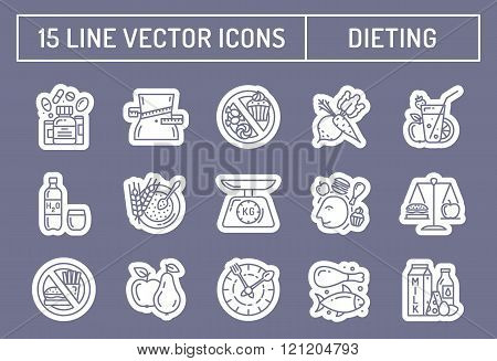 Healthy diet icons