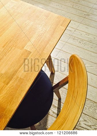 Wooden Table And Stylish Chair