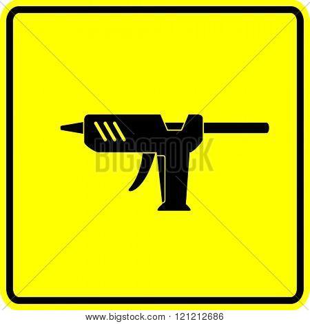 glue gun sign