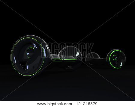 Black color hoverboard