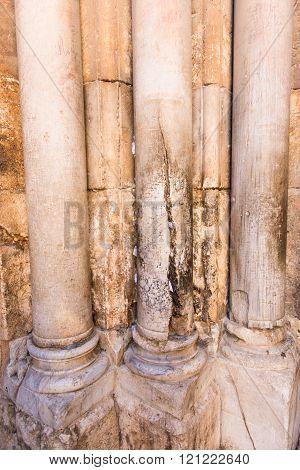 Cracked Column At Holy Sepulcher Church