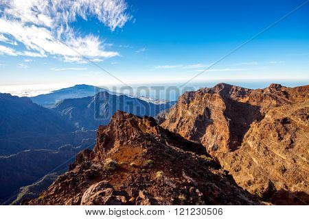 Volcanic landscape on La Palma island