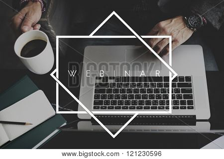 Webinar E-business Browsing Connection Laptop Concept