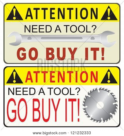 Reminder For Acquisition Of Industrial Tools