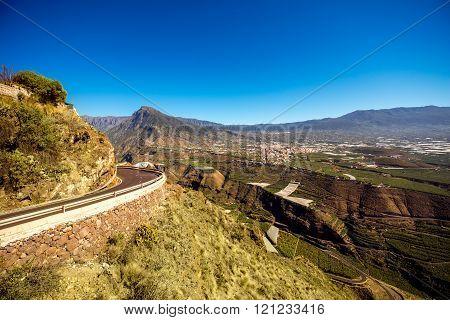 Landscape view on the western part of La Palma