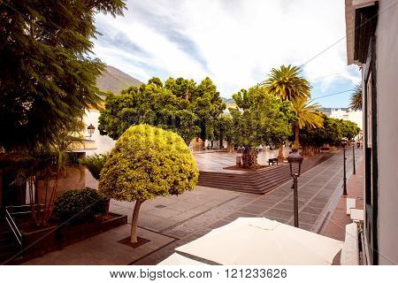 Central square on Los LLanos city