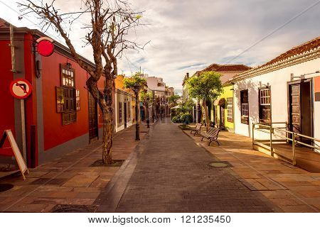 Street view in Los Llanos city on La Palma island