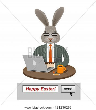 happy Easter. greeting card. vector illustration