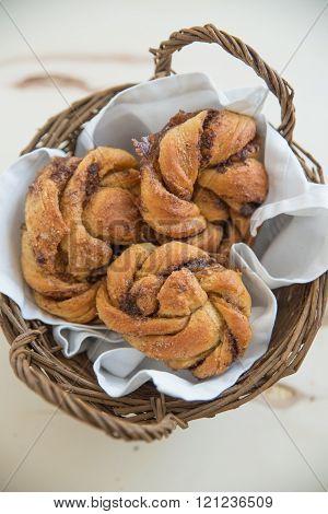 Home made swedish kannebulle cinnamon rolls