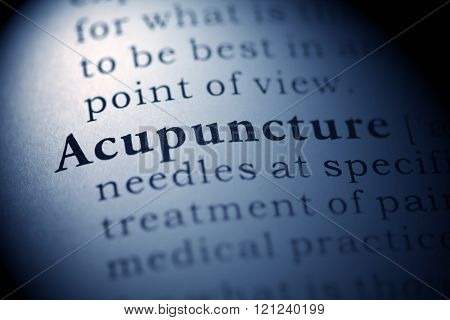 definition of the word Acupuncture, fake dictionary