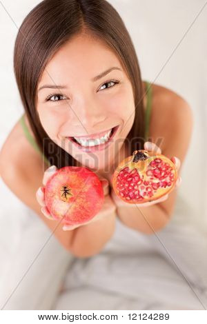 Pomegranate Fruit Woman