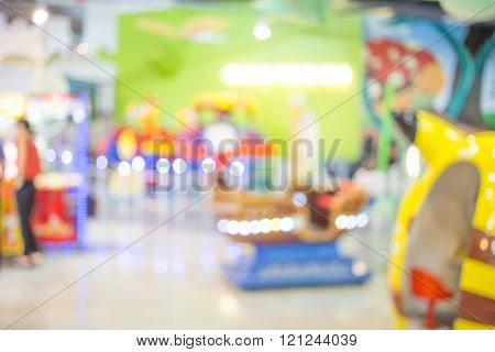 Blur picture of game arcade. Blur picture of game arcade.