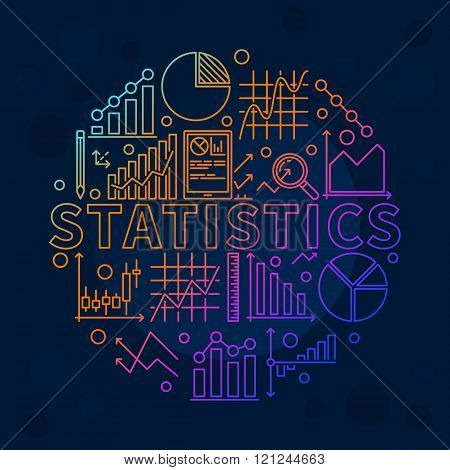 Bright statistics illustration