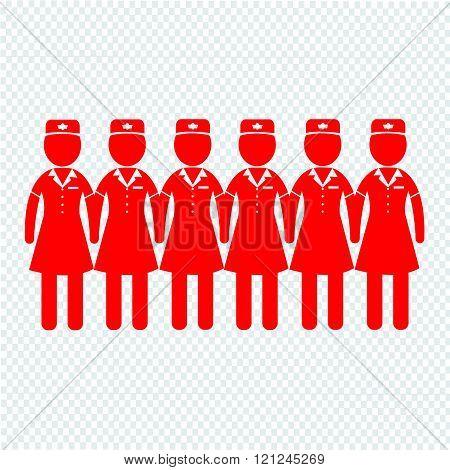 Air Hostess Stewardess Icon Illustration Design