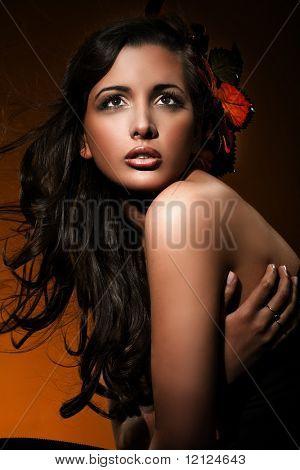 Portrait of an autumn girl