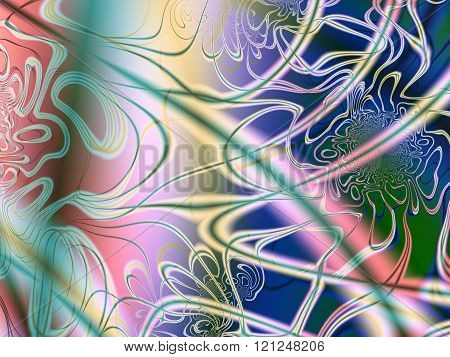 Colourful organic fractal art