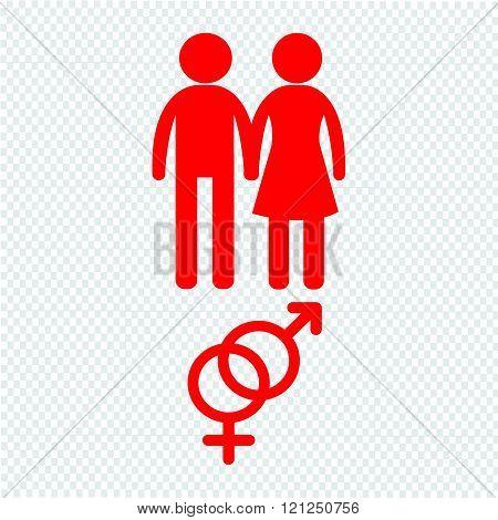 Gender Icon People Icon Illustration Design