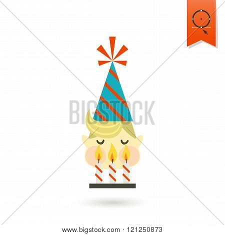 Little Boy Blowing Out Candles