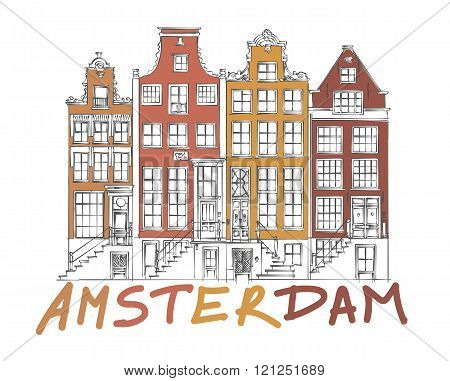 Amsterdam City Drawing