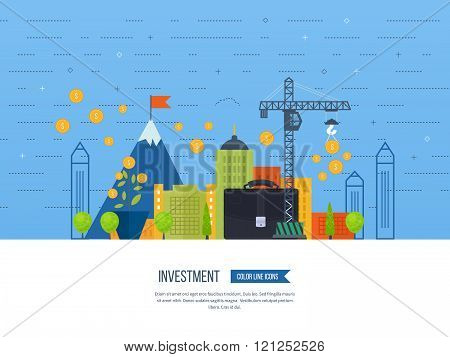 Property investment. Financial strategy concept.