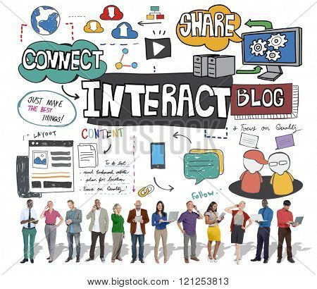 Interact Interactive Connection Interface Multimedia Concept