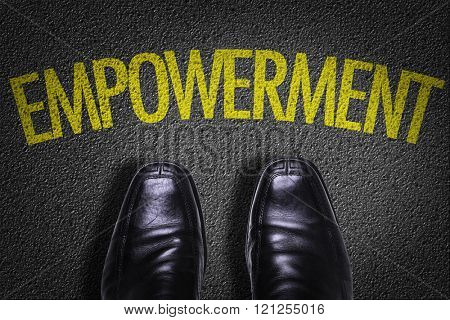 Top View of Business Shoes on the floor with the text: Empowerment