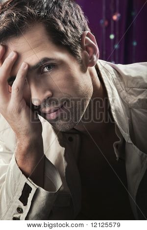Glamour style photo of an attractive guy