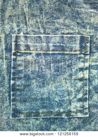 Close up denim pocket. Denim pocket texture