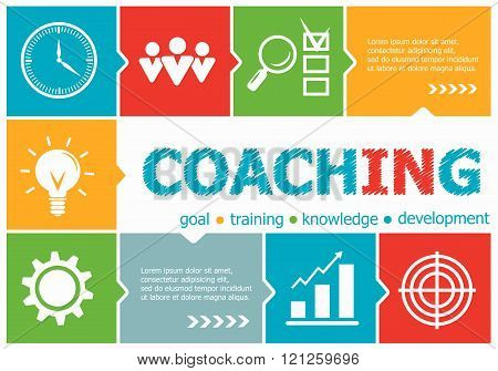 Coaching Design Illustration Concepts For Business, Consulting, Management, Career.