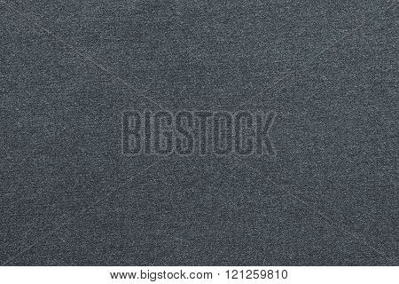 Textured Background From Textile Fabric Of Dark Silvery Color