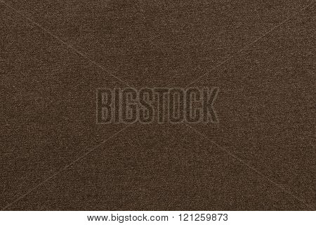 Textured Background From Textile Fabric Of Dark Brown Color