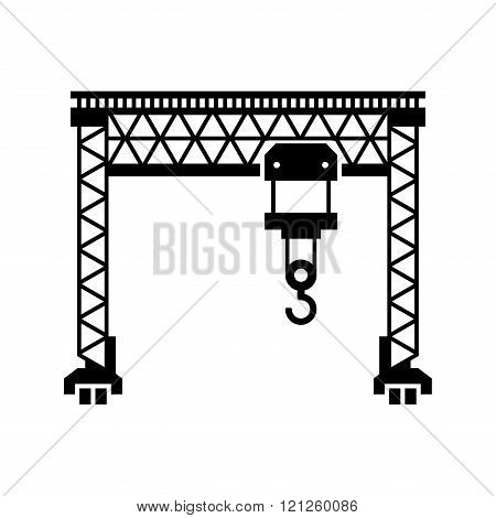 Lifting Machine Icon on White Background. Vector