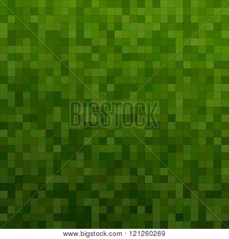 Dark green color square mosaic background design