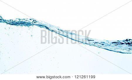 Set of splashing water waves, isolated on the white background