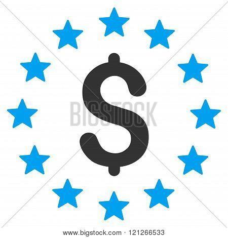 Dollar Stars Flat Vector Icon