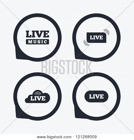 Live music icons. Karaoke or On air stream.