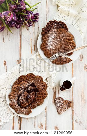 Homebaked Chocolate Waffles