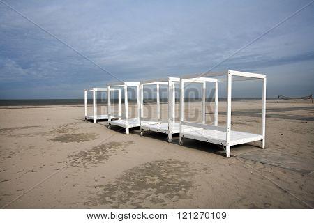White Frames On The Beach