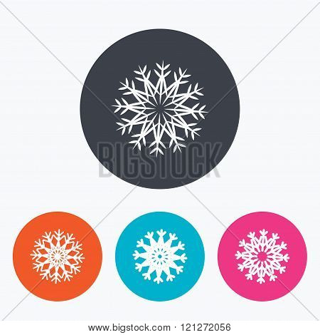 Snowflakes artistic icons. Air conditioning.
