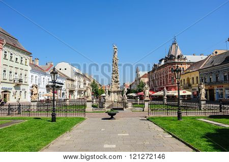Plague Column Monument And Statues