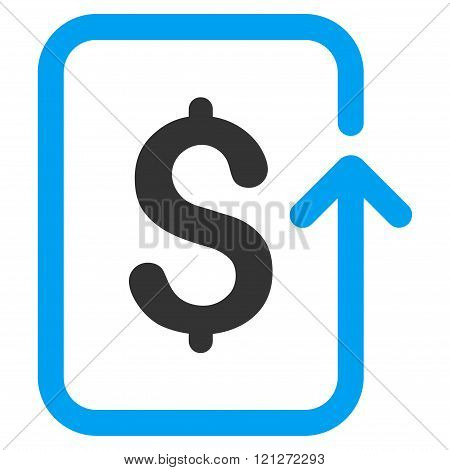 Reverse Transaction Flat Vector Icon