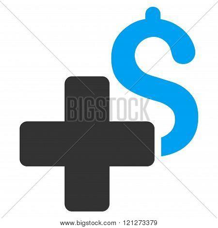 Add Dollar Flat Glyph Icon