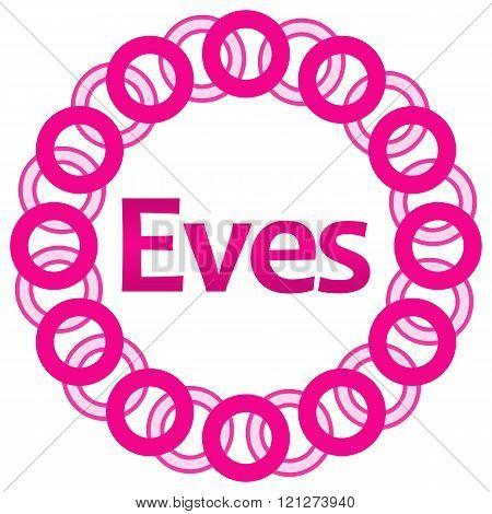 Eves Pink Rings Circular