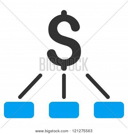 Financial Hierarchy Flat Glyph Icon