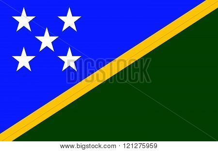 Solomon Islands Flag.