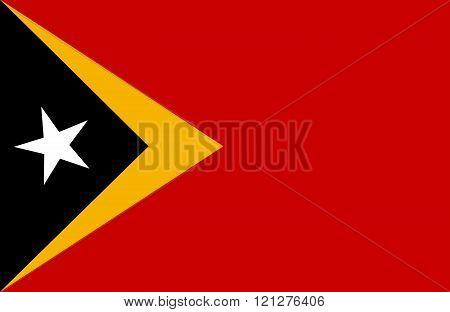 Timor Lesto Flag.